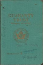 Image of Pass book for Guaranty Trust Co.