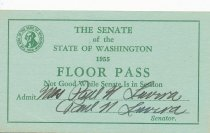 Image of Washington Senate floor pass
