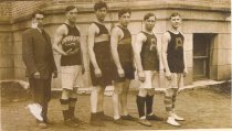 "Image of 1912 AHS basketball team ""champs"", 2015 calendar - March"