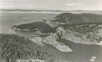 Image of 2015.016 - Aerial postcard view of Deception Pass Bridge