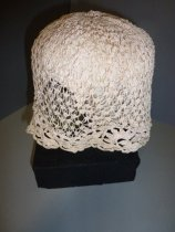 Image of Crochet cap side view