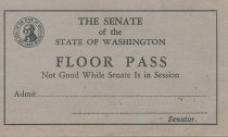Image of Senate floor pass