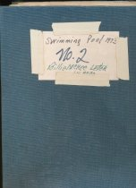 Image of Swimming Pool notebook #2, 1973