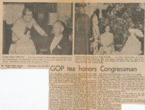 Image of tea honoring Congressman Westland