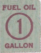 Image of ration stamp for one gallon of fuel oil
