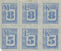 Image of ration stamps, blue
