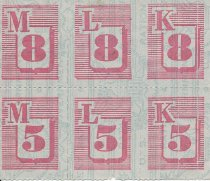 Image of ration stamps, red
