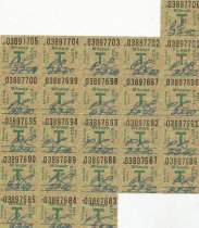 Image of mileage ration stamps