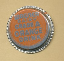 "Image of Bottle cap from ""Wagner Dairy Grade A Orange Drink"""
