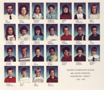 Image of 2009.016.425 - Whitney School  1990-1991  Grade 1