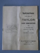Image of Instructions for use of Taylor Slide Comparators