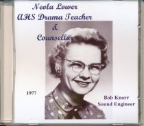 Image of Neola Lower, AHS Drama Teacher & councelor compact disk made from album