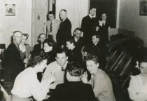 Image of card game at VFW hall