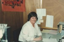 Image of 2012.083.001.100 - Unidentified woman in cannery office