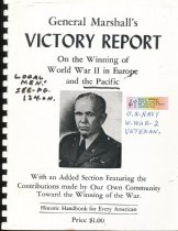 Image of General Marshall's VICTORY REPORT, On the Winning of World War II