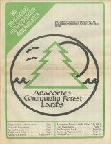 Image of Spring 1984 Parks Department newsletter