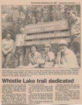 Image of Whistle Lake trail dedication