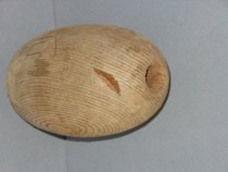 Image of Wooden fish float used by the APEX cannery.
