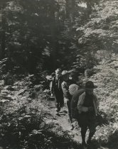 Image of Boy Scouts on Camp Kelcoma trail