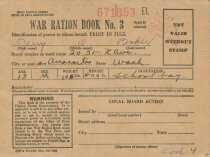 Image of World War II ration book