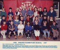 Image of 2009.016.496 - Whitney School  1996-1997  Kindergarten  P.M.