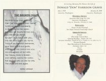 "Image of Donald ""Don"" Graves memorial program"