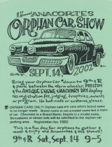 Image of Orphan Car Show poster, 2002