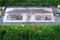 Image of 2015.059.023.005 - John and Mae Babarovich headstone