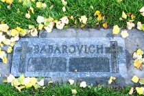 Image of 2015.059.023.022 - Ernest D. and Bernice Babarovich headstone