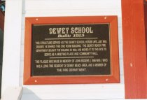 Image of 2015.059.049.001 - Plaque on Dewey Fire Department