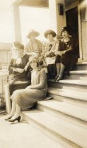 Image of group of women on steps