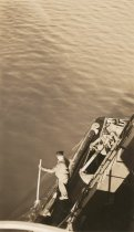 Image of crewman on Texas deck of W.T. PRESTON