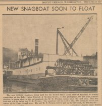 Image of snagboat nears completion