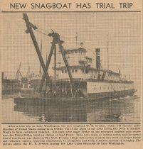 Image of snagboat has trial trip