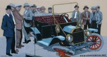 Image of 2015.059.056.001-.002 - Mural of first car accident in Anacortes, 1913