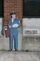 Image of 2015.059.074.001-.002 - Mural of mail carrier Fred A. Latham
