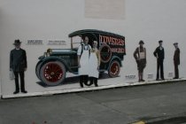 Image of Murals on wall of former Luvera's Grocery