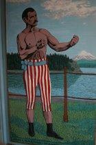 Image of 2015.059.105.001-.002 - Mural of John L. Sullivan