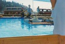 Image of D.XXV.195.A,B - Coast Guard model boat in pool