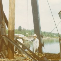 Image of logs and debris on W.T. PRESTON deck