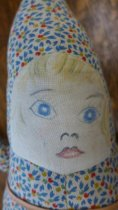 Image of Star shaped doll face close up