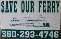 Image of Save our Ferry poster