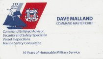 Image of Business card for Dave Malland