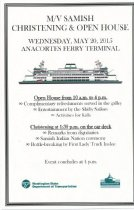 Image of SAMISH ferry Open House