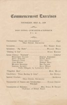 Image of Commencement Exercises program 1934