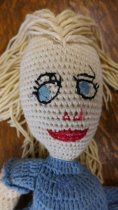 Image of Crocheted doll face detail