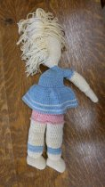 Image of Crocheted doll back