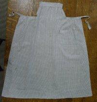 Image of sage and tan checkered apron with bib