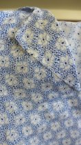 Image of Detail blue and white flower pattern cotton dress