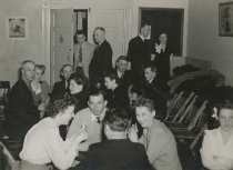 Image of bridge party at VFW hall